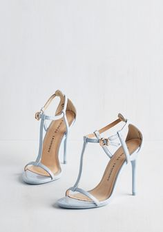 Gala Te Da Heel in Sky - Blue, Solid, Special Occasion, Prom, Wedding, Party, Daytime Party, Minimal, Better, T-Strap, Variation