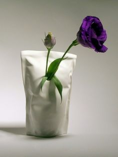 This vase is inspired by a childhood memory of drinking juice out of a bag.  By Shira Keret $29.95