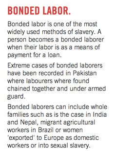The END IT Movement's definition of slavery - bonded labor