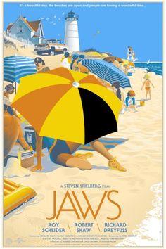 Alternative Jaws film poster, love it!
