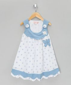 Take a look at this Honey Blue Butterfly Dress by Powel Craft!