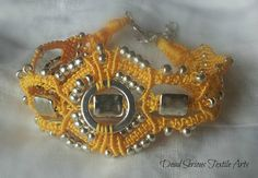 Sunshine and Silver Micro Macrame Anklet by DeadSerious2010