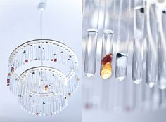 Ceiling Lamp Made by Chemistry Test Tubes | DesignRulz