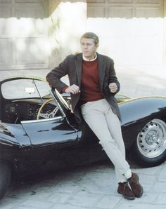 Steve McQueen working white jeans