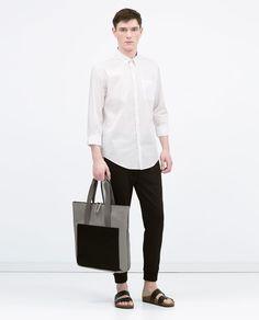 ZARA - MAN - Plain stretch shirt