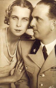 Humberto II y la reina María José, nacida Princesa de Bélgica (1946)