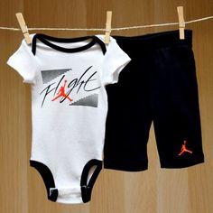 Air Jordan Baby Onesie Pants Set - Flight