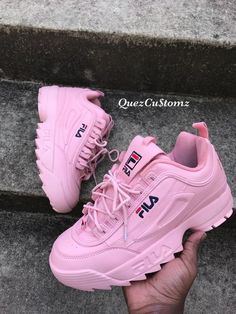 fila shoe Discovered by terra. Find images and videos about pink, shoes and winter on We Heart It - the app to get lost in what you love. Pink Shoes, Girls Shoes, Baby Shoes, Cute Sneakers, Shoes Sneakers, Converse Shoes, Sneaker Heels, Trendy Shoes, Casual Shoes