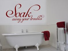 Buy this unwind vinyl lettering wall sticker and add a little style to your bathroom decor. Numerous colour choices available ** SHOP TODAY ** Bathroom Wall Decals, Bathroom Wall Stickers, Wall Stickers Quotes, Bathroom Rules, Wall Decal Sticker, Bathroom Ideas, Wall Transfers, Beautiful Wall, Vinyl Lettering