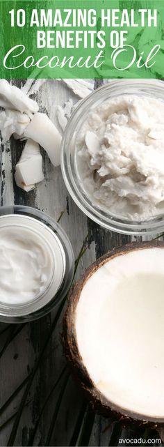 10 Amazing Health Benefits of Coconut Oil + 25 Everyday Uses | Healthy Living | Avocadu.com