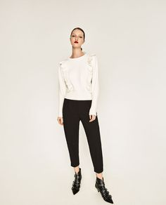 ZARA - WOMAN - ANKLE CROPPED TROUSERS