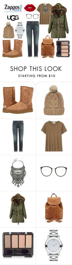 """""""The Icon Perfected: UGG Classic II Contest Entry"""" by amrinjo ❤ liked on Polyvore featuring UGG Australia, Chicnova Fashion, 7 For All Mankind, Toast, DYLANLEX, Linda Farrow, Movado, Lime Crime, ugg and contestentry"""