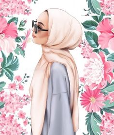 """Find and save images from the """"disegni🖌"""" collection by ImaneLaMaghribina (ImaneLaMaghribina) on We Heart It, your everyday app to get lost in what you love. Hijabi Girl, Girl Hijab, Muslim Girls, Muslim Women, Hijab Drawing, Hijab Cartoon, Cartoon Cartoon, Islamic Cartoon, Anime Muslim"""
