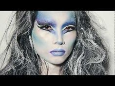 Snow Queen makeup for The Winter Holidays