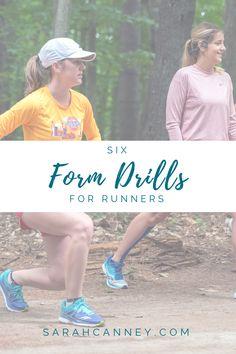 6 Form Drills for Runners: training neuromuscular pathways for better running performance — Sarah Canney Running Drills, Running Form, Running Injuries, Running Workouts, Running Training, Running Tips, Strength Training, Half Marathon Training Plan, Running Routine