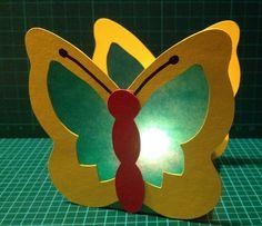 Kerzenständer - Schmetterling- Laterne aus Tonkarton, Fotokarton - ein Designerstück von Connys-basteleck bei DaWanda