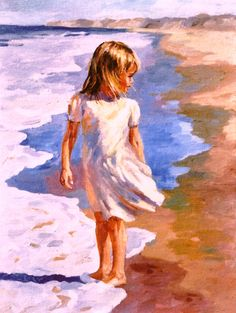 Painting - beach girl (original art from michael hallinan studio) i' Seaside Art, Beach Art, Abstract Portrait, Abstract Art, Painting People, Arte Popular, Beautiful Paintings, Contemporary Paintings, Painting Inspiration
