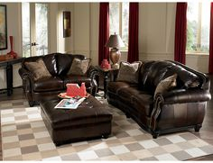 Prestige 100% Genuine Leather Sofa - Brown, (PRESTIG-S) | The Brick