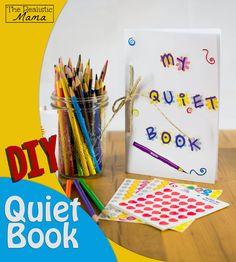 DIY Quiet Book for Kids - with 5 easy activities inside.  #2 is BRILLIANT!