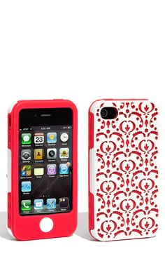 Tech Candy 'Bordeaux' iPhone 4 case (3-Piece Set) Pink and yellow, with white accent wrap.