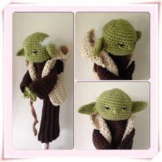 Yoda hand crocheted golf club cover by Plumalicious on Etsy