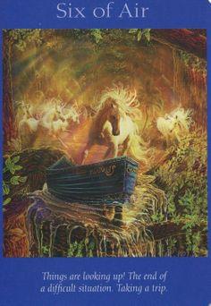 Angel Tarot Card - Six of Air