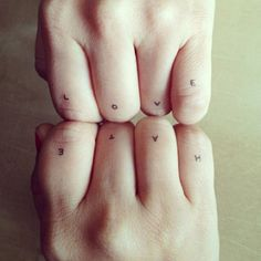 Photo by yumicha_blog - tatouage temporaire - Hate and love - http://www.bernardforever.fr/products/l-enfant-sage #write #tattoo