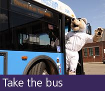 Ways to get to campus -- Take the Bus