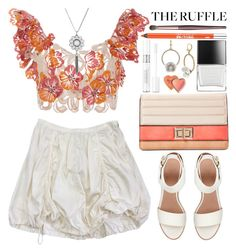 """All Ruffled Up"" by grozdana-v ❤ liked on Polyvore featuring Prada, Johanna Ortiz, BEA, Melie Bianco, Butter London, Betsey Johnson, Christian Dior, Urban Decay, Charlotte Tilbury and Lucky Brand"