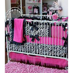 Zebra Minky Patch Crib Bedding--SOFIA'S official room decor