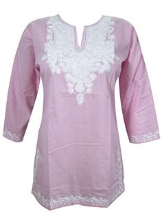Indian Tunic Top Womens Kurti Pink Yoga Cotton Blouse India Clothing Xl Sz Mogul Interior http://www.amazon.com/dp/B0118XTTHW/ref=cm_sw_r_pi_dp_cFMNvb08NJ4PA