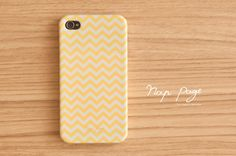 iPhone 4 case , iPhone 4s case and iPhone 3gs case mobile Case handmade :Yellow Chevron iphone case. $19.90, via Etsy.