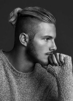 undercut hairstyle with ponytail
