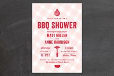 We Do BBQ Bridal Shower Invitations by Lauren Chism at minted.com