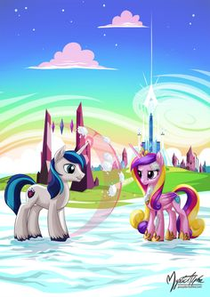 Shining Armor and Princess Cadance - Snowballs by mysticalpha on DeviantArt