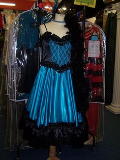 saloon girl dresses | Wild West 1880s Wild West Saloon Girl Blue | Mad World Costume Hire