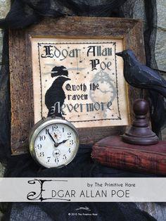 Edgar Allan Poe by ThePrimitiveHare on Etsy