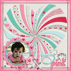 #papercraft #scrapbook #layout  Pretty in Pink