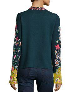 TADYX Michael Simon Embroidered Folkloric Cardigan, Women's