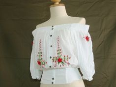 Crop Top / Sexy Smocked Crop Top  Medieval Pixie by idea2wear, $34.00