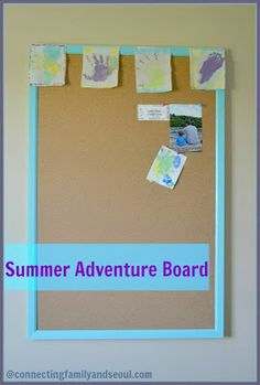 Connecting Family and Seoul: {Recording Memories} A Summer Adventure Board - A fun way to record activities and memories that you create this summer as a family!