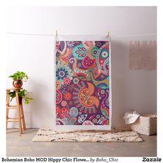 Bohemian Boho MOD Hippy Chic Flower Pattern Fabric Bohemian Fabric, Boho, Sewing Projects, Diy Projects, Pattern Fabric, Hippie Chic, Hippy, Custom Fabric, Flower Patterns
