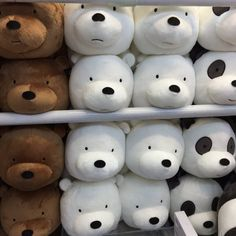 "webareebears: ""Bear plushies that are in harajuku shop Japan.- webareebears: ""Bear plushies that are in harajuku shop Japan "" webareebears: ""Bear plushies that are in harajuku shop Japan "" - Beanie Babies, Make My Day, We Bear, Ice Bear We Bare Bears, Cartoon Network, Kids Toys, Children's Toys, We Heart It, At Least"