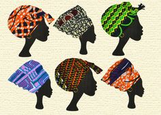 Pack of 6 African woman cards featuring a by Colourshotcards