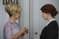 """Jessica Lange and Frances Conroy in """"American Horror Story""""  This show is all about these crazy bitches."""