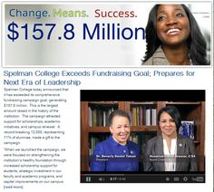 Big announcements from Spelman College! The institution makes history exceeding its fundraising goal & prepares for new leadership as President Beverly Daniel Tatum announces her intention to retire.