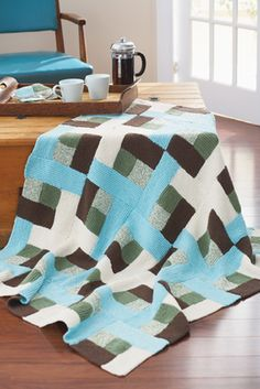 Crocheted Log Cabin aphghan/dishcloth pattern (to try) - I'm really interested in making quilting patterns by crocheting!