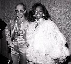 Elton & Diana at studio 54