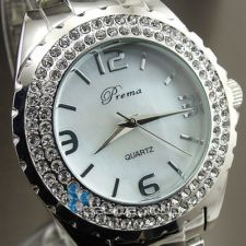 NEW HOURS CLOCK DIAL HAND OYSTER CRYSTAL STEEL MEN WOMEN WRIST WATCH HW133 News Hour, Men And Women, Oysters, Clock, Bling, Steel, Watches, Crystals, Ebay