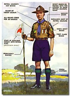 Vintage Boy Scout Uniform_I wonder if I could replicate this into a painting??? for the boys' room?